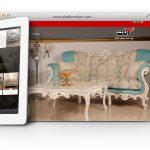 طراحی سایت و پشتیبانی سایت شرکت مبلمان آکات