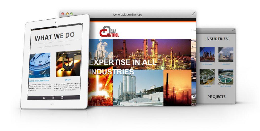 طراحی وب سایت شرکت آسیا کنترل