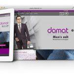 طراحی سایت و پشتیبانی سایت تولیدی پوشاک دامات