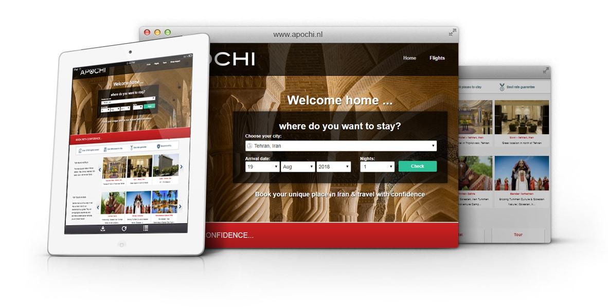 طراحی وب سایت شرکت APOCHI