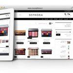 طراحی سایت و پشتیبانی سایت محصولات آرایشی سفورا